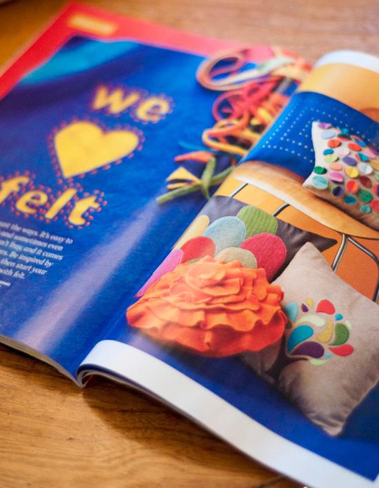 Felt Flower Pillow Do It Yourself Magazine