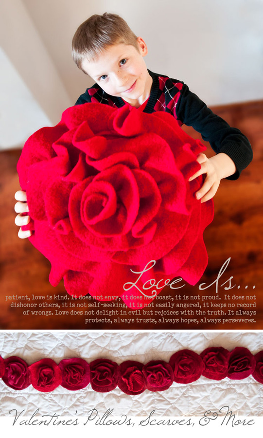 Red Rose Pillows