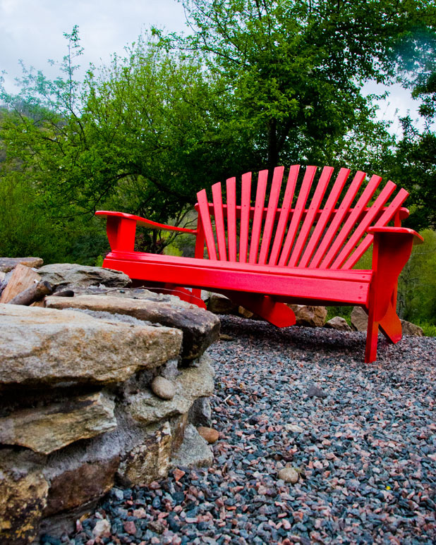 Red Adirondack Chair Settee