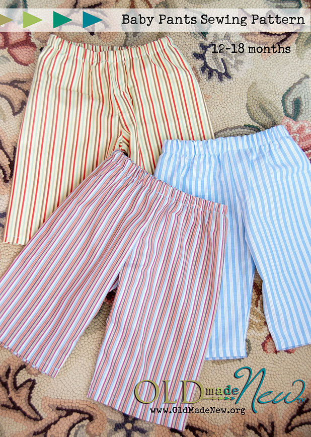 Free Baby Pants Pattern Old Made New